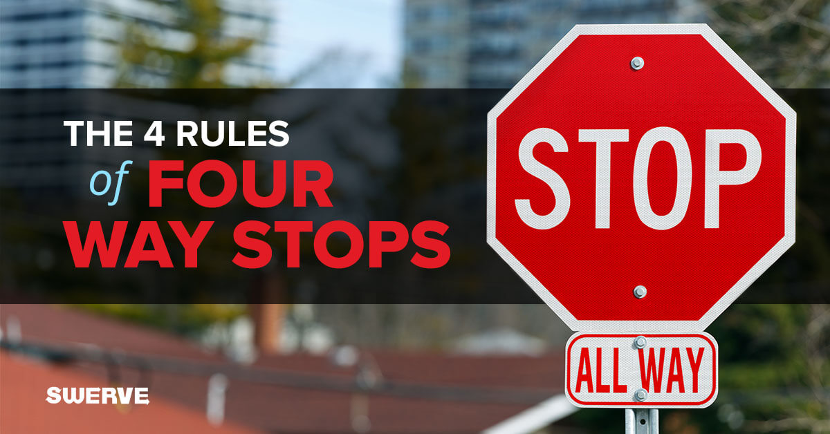 The 4 Rules of 4 Way Stops | Swerve Driving School