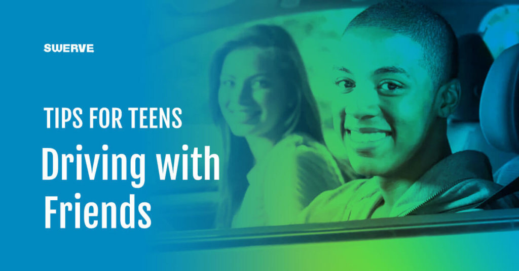teens driving with friends